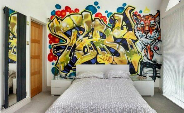 Стена в стиле граффити