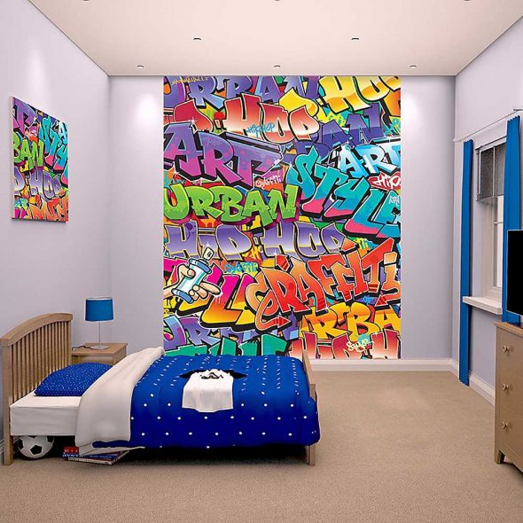 Оформление стен в стиле комикса