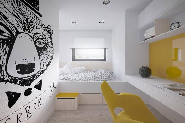 Оформление стен в чёрно-белой гамме