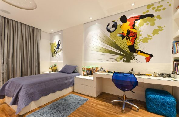 Лаконичный дизайн комнаты для мальчика