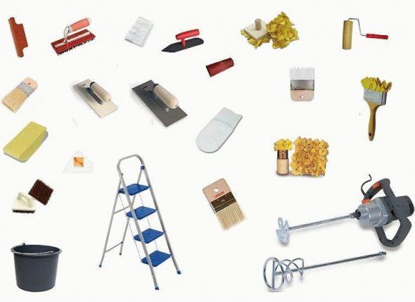 Инструменты для отделки помещения