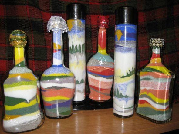 как сделать радугу в бутылке