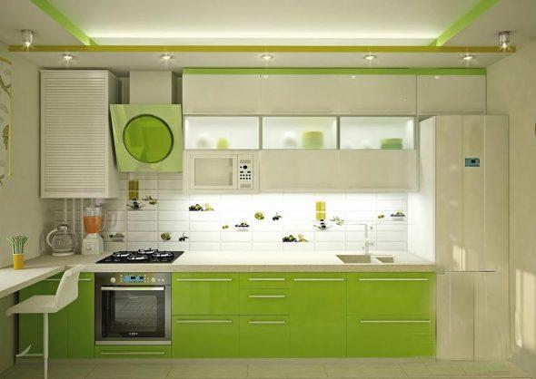 какой цвет лучше для маленькой кухни