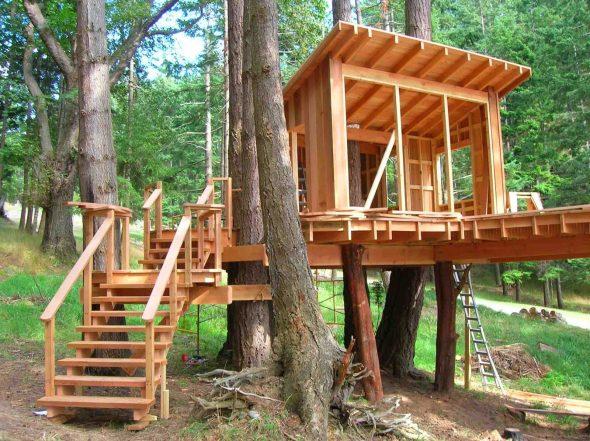 как сделать дом на дереве для детей