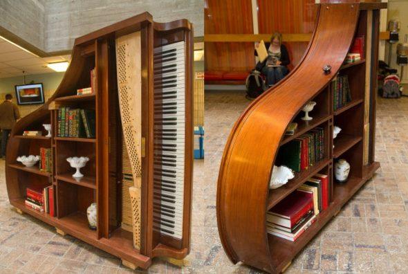 Полки для книг из пианино