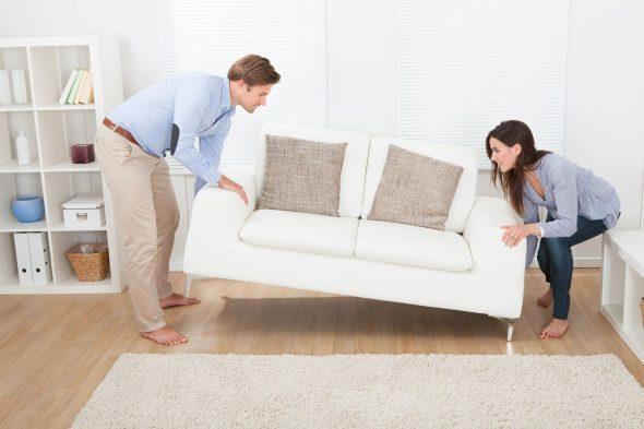 Перестановка дивана