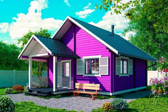 Дом с контрастной отделкой