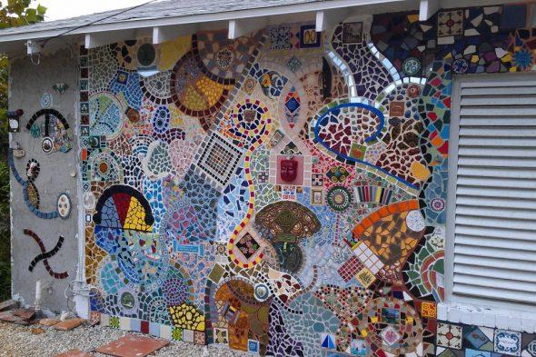 Отделка фасада мозаикой