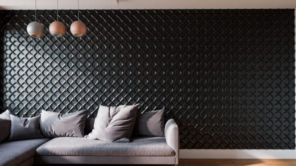 ЗD-панели за диваном