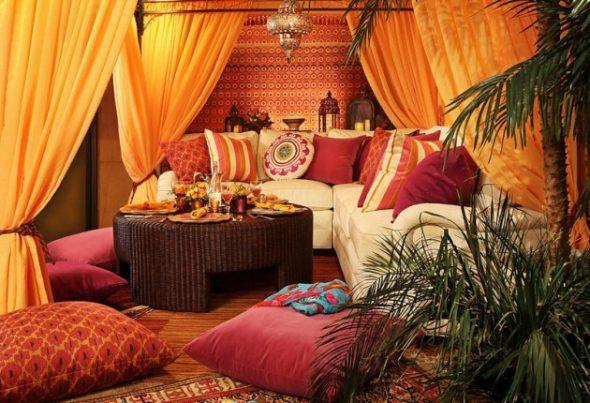 Арабский интерьер с драпировками