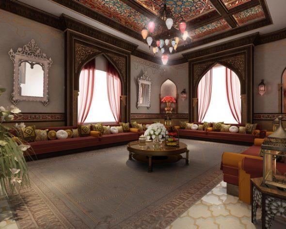 Тёмная комната в арабском стиле