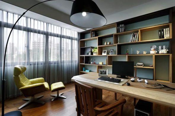 Дизайн просторного кабинета