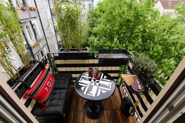 Открытый балкон-веранда