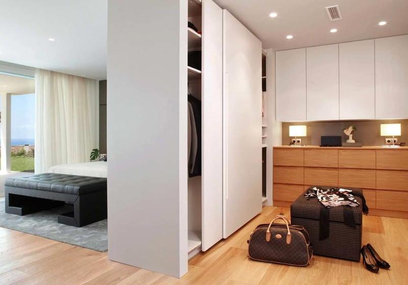 Зонирование помещения с помощью шкафа