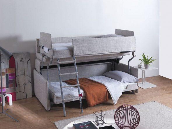 Двухъярусная кровать-трансформер