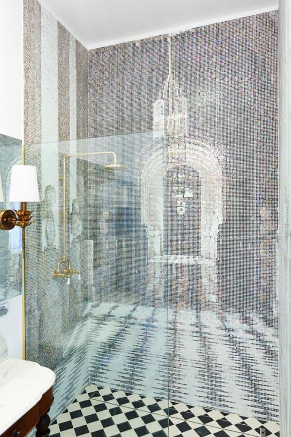 Мозаика с узором в виде дворца