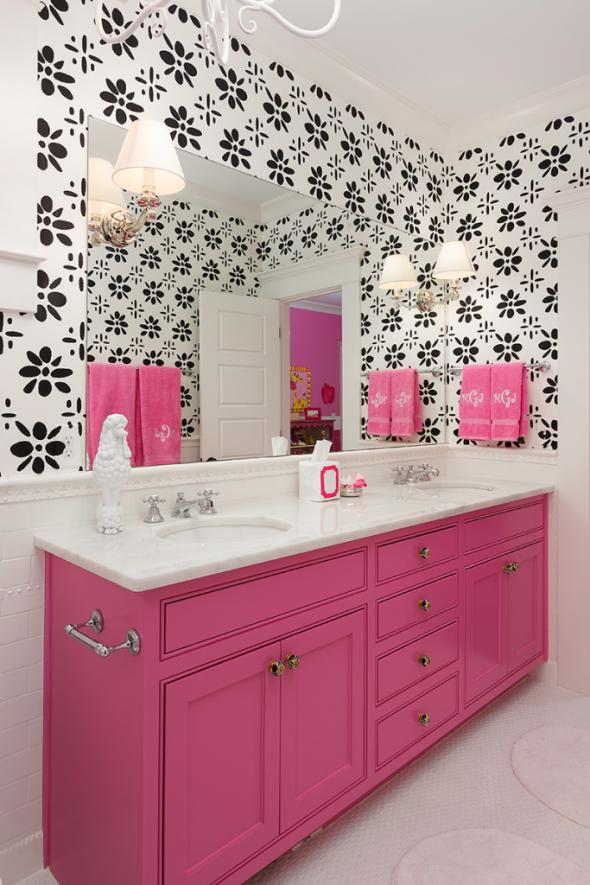 Плитка с рисунком в ванной