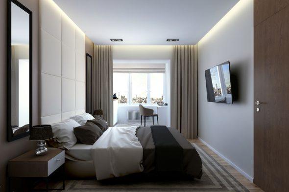 Спальня в минималистичном стиле