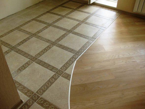 Плитка и линолеум на полу