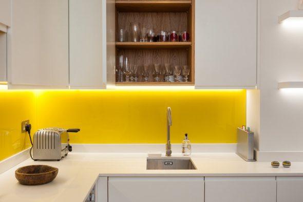 Кухня с жёлтыми акцентами