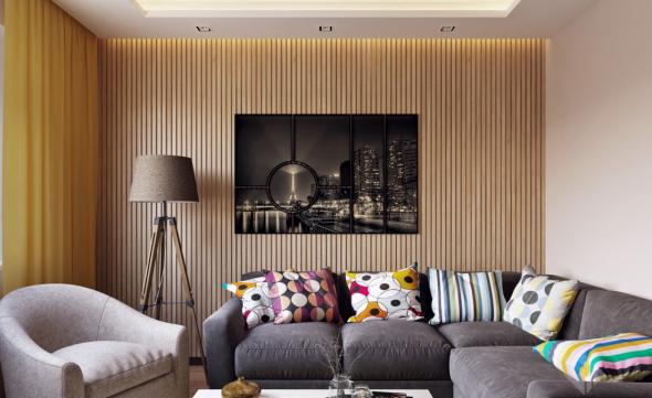 Обшивка стен деревянной рейкой