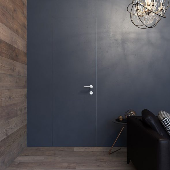 Дверь в одном цвете со стеной