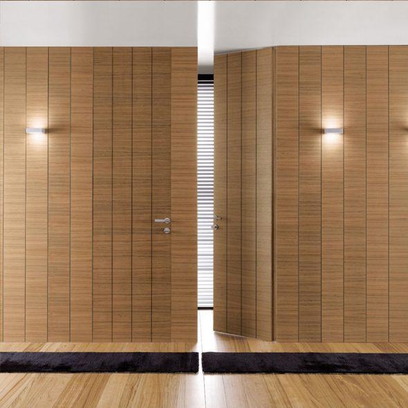 Двери без наличников в тон отделки стен
