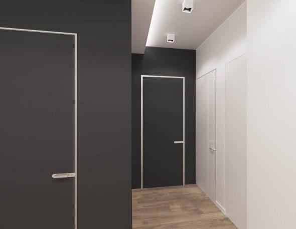 Двери без наличников с обрамлением по периметру