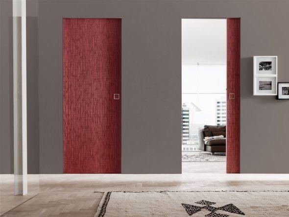 Двери без наличников контрастного цвета