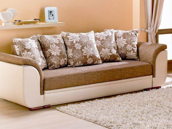 Диван еврокнижка с подушками