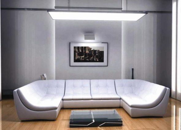 U образный диван в стиле Хай тек