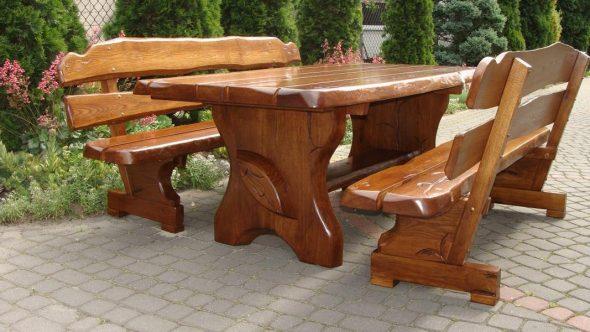 Садовая мебель из цельного массива дуба