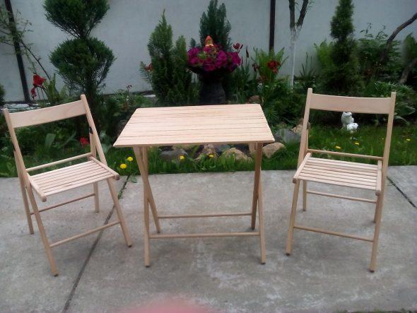 Набор раскладной мебели из бука