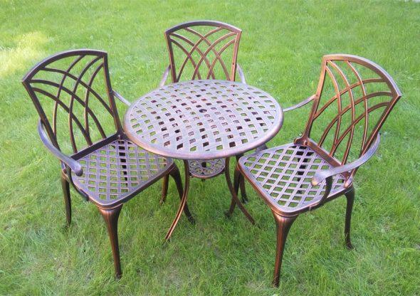 Садовая мебель из сплава алюминия с медью