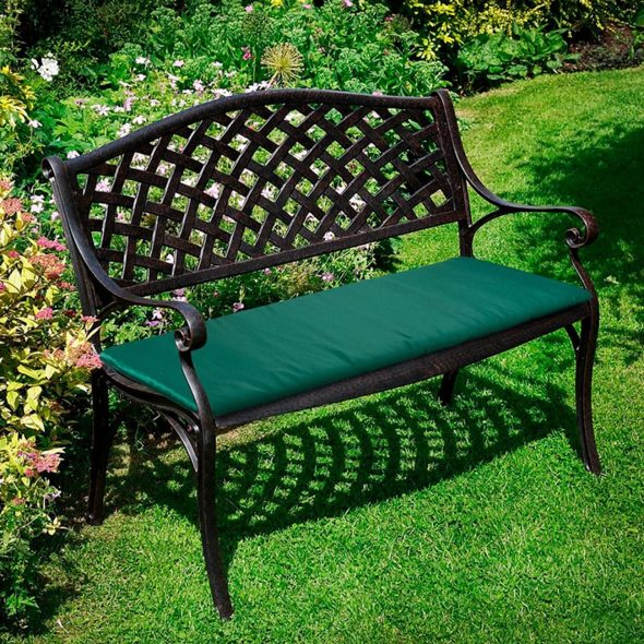 Скамейка для сада из металла