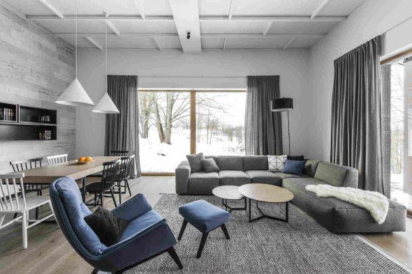 Скандинавский стиль в интерьере помещения