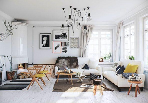 Подвесной светильник в скандинавском стиле
