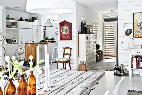 Интерьер помещения в шведском стиле