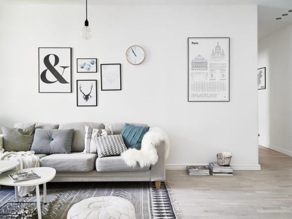 Постеры для гостиной в скандинавском стиле