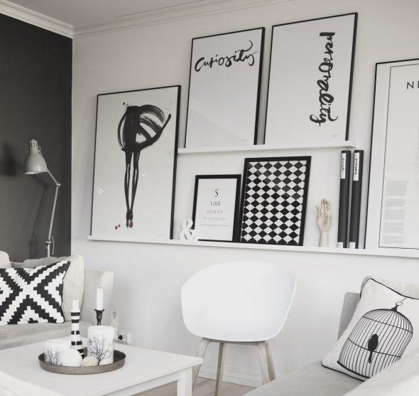 Чёрно-белые постеры для интерьера