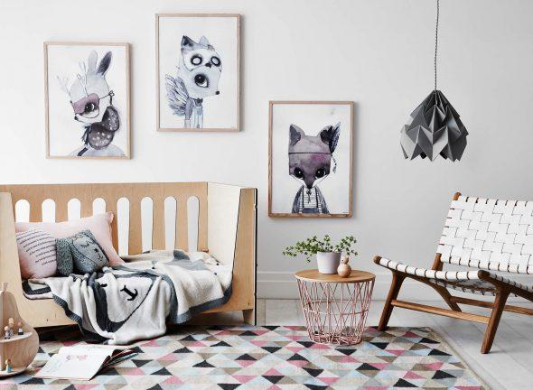 Постеры в скандинавском стиле для детской
