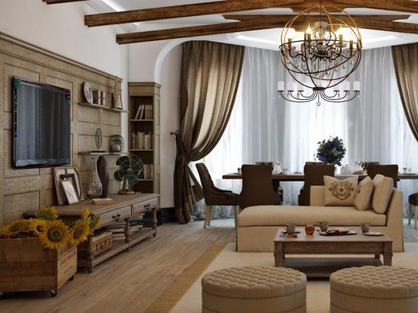 Стиль Кантри в интерьере современной квартиры