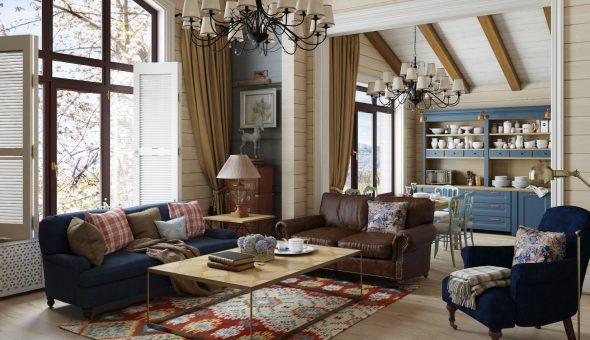 Дом в стиле Кантри интерьер