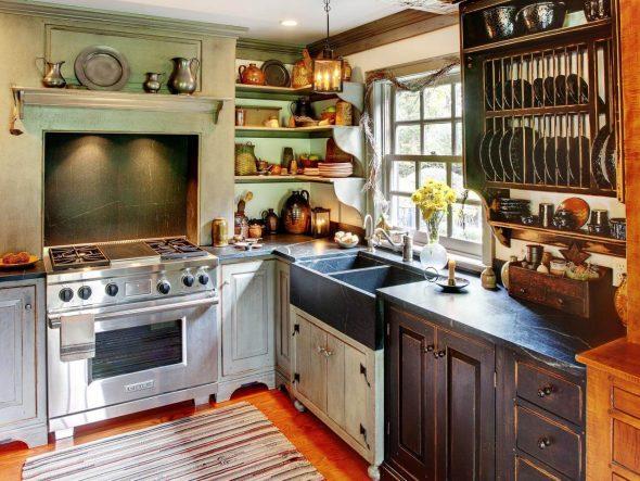 Шкафы на кухне в стиле Кантри