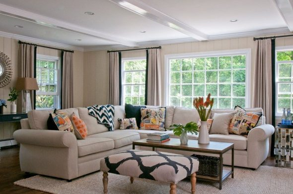 Расположение мебели в гостиной