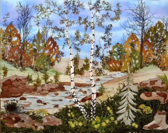 Картина из природных материалов