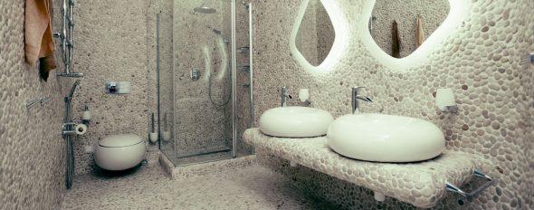 Интерьер ванной из натурального камня