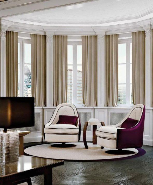 Дизайн полукруглой комнаты