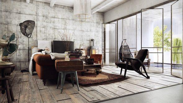 Индустриальный стиль в интерьере дома