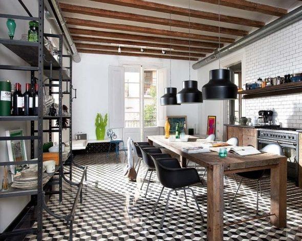 Плитка на кухне в интерьере